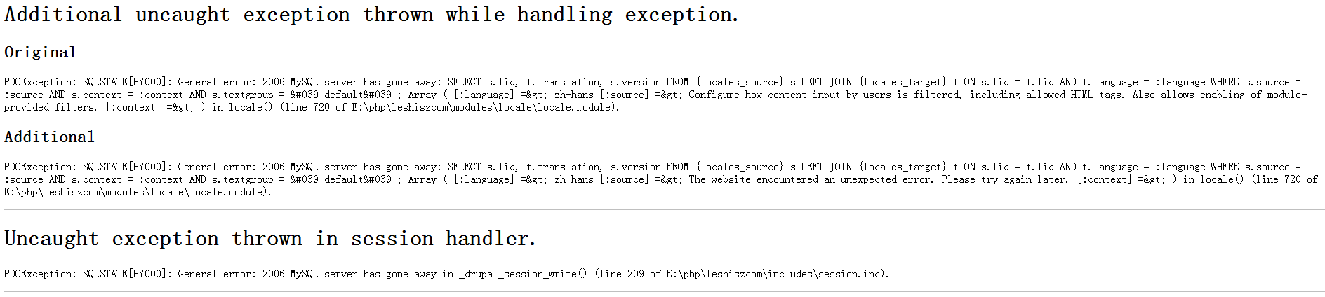 drupal7 内容类型新建及编辑出现错误提示