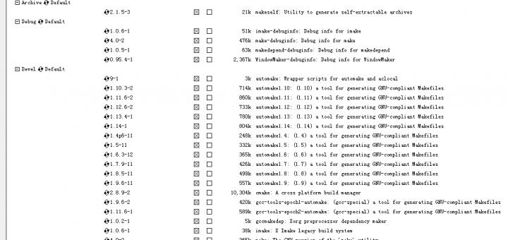 通过运行setup-x86.exe,搜索make关键字,并且将显示列表完全安装