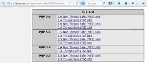 无法下载到windows环境下的php5.2的相关版本dll扩展