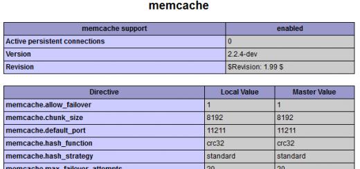 memcache安装成功!