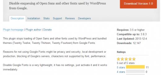 安装Disable Google Fonts 插件以解决在访问WordPress网站后台的时候,加载速度变的非常的慢的问题!