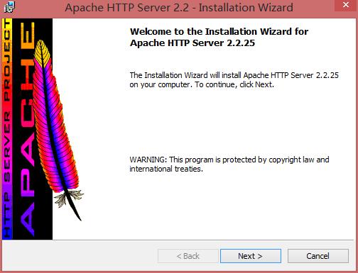 Apache 欢迎界面