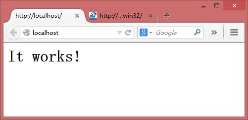 Apache安装成功的浏览器界面