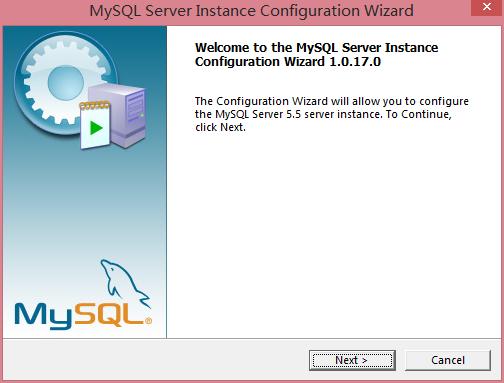 启动MySQL的配置向导