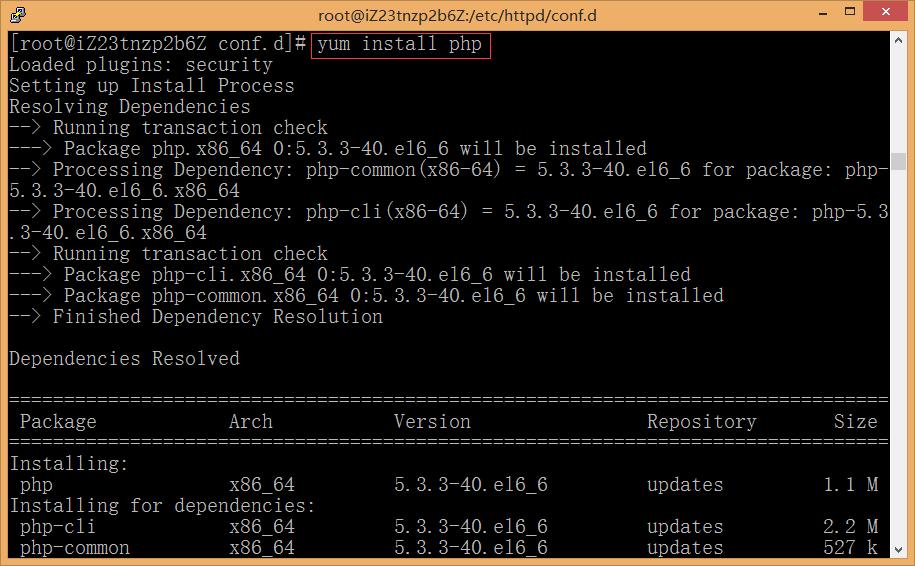 安装与配置 PHP