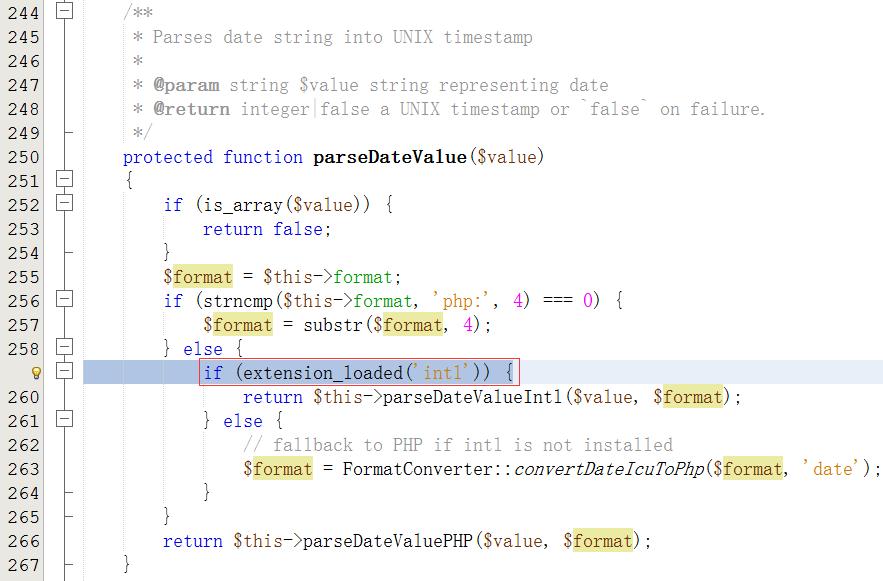 分析代码,发现加载intl扩展失败