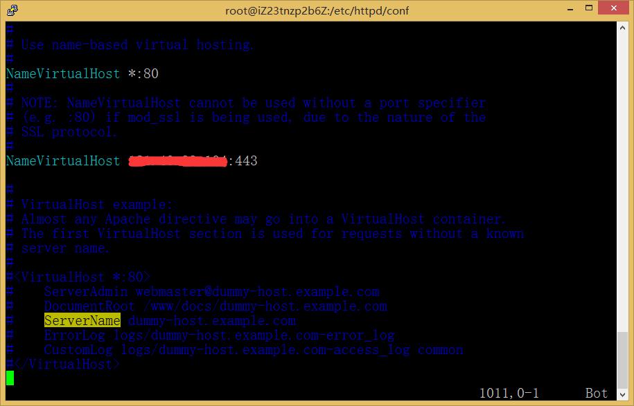 图10.1:NameVirtualHost 服务器公网IP:80