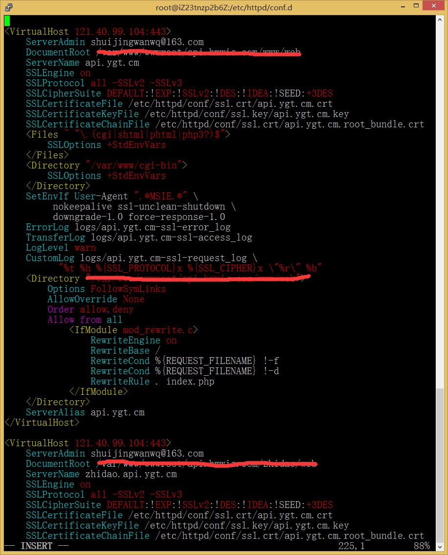 图7.1:配置虚拟主机,基于原来的默认虚拟主机配置进行相应设置