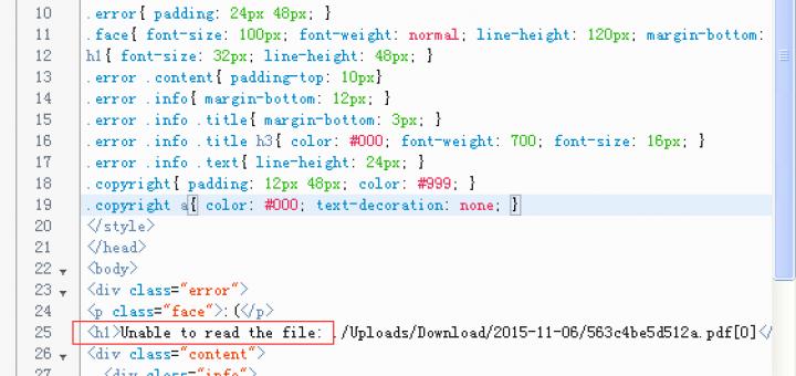 浏览器运行时报错:Unable to read the file