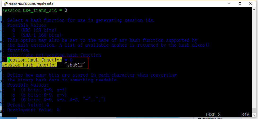 "session.hash_function = ""sha512"""