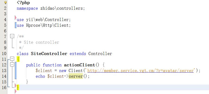 客户端实现,新建E:\wwwroot\service.ygt.cm\zhidao\controllers\SiteController.php