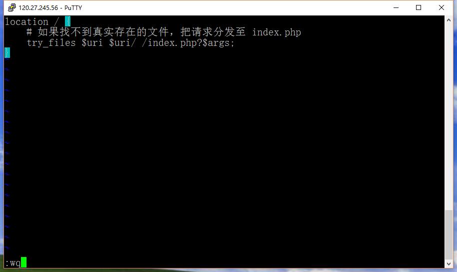 如果找不到真实存在的文件,把请求分发至 index.php