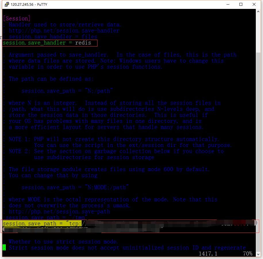 配置php.ini,让session存储支持redis