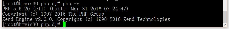 执行命令,显示版本为5.6.20
