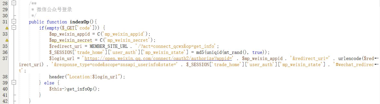 在mobile客户端下,直接跳转至授权页面的代码