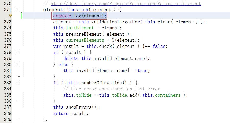 在element方法中,插入console.log(element);