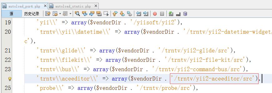 编辑yii2-starter-kit\vendor\composer\autoload_psr4.php
