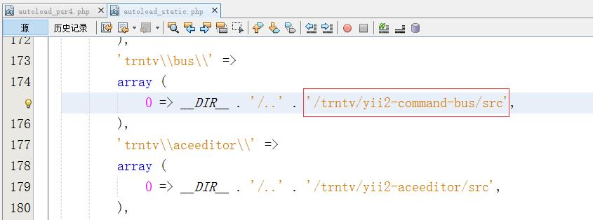 编辑yii2-starter-kit\vendor\composer\autoload_static.php