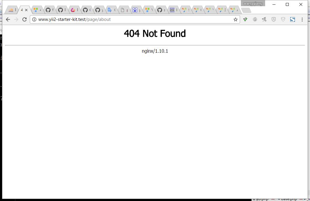 打开关于页面,返回404