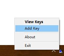 右键选择Windows桌面右下角(通知区域)的图标,出现如下菜单
