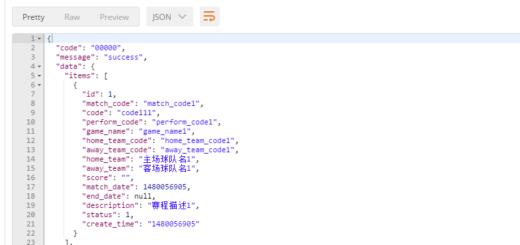 在Postman中GET:shujujiexi.kaiqiu_shujujiexi_api.dev/v1/schedules,正确响应,且仅返回status为1的数据