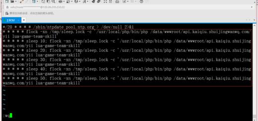 使用linux flock 文件锁实现任务锁定,重新编辑,表示每10秒钟执行一次,保存