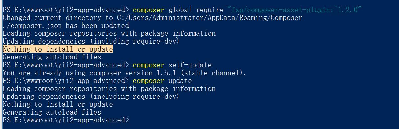 由于刚从 PHP 5.6.27 升级到 PHP 7.0.22,决定重新安装 Composer asset plugin,无更新