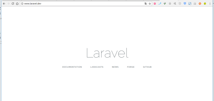 打开网址:http://www.laravel.dev/ ,正常