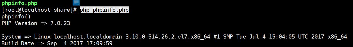 运行 php phpinfo.php,正常