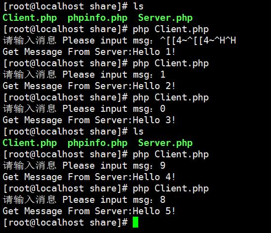 在一个 Xshell 终端中运行客户端