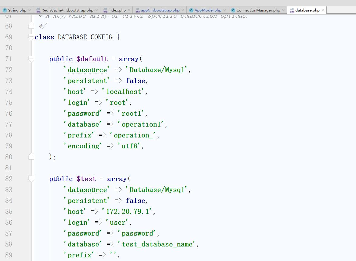 确定在 database.php 中不存在 $tmp