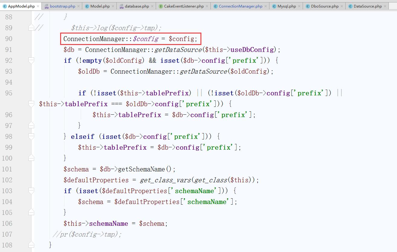 现在的需求应该为,在不修改核心库的前提下,确保 static::$config 中存在 $tmp,查看之前的实现