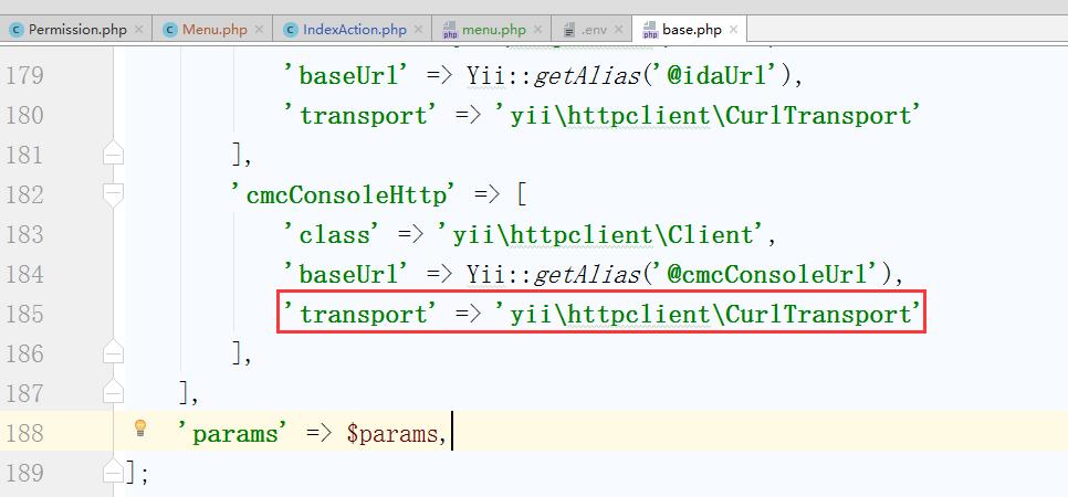 通过应用组建配置客户端,删除 'transport' => 'yii\httpclient\CurlTransport' 此项配置