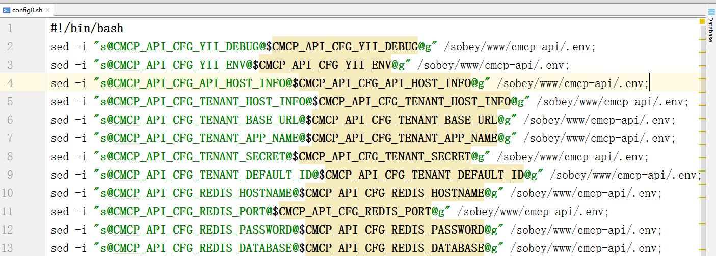 将.sh文件中的/替换为@
