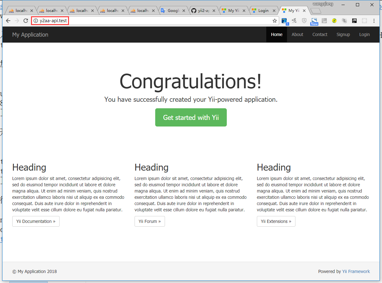 等待完成后,在浏览器中访问如下URL即可,符合预期