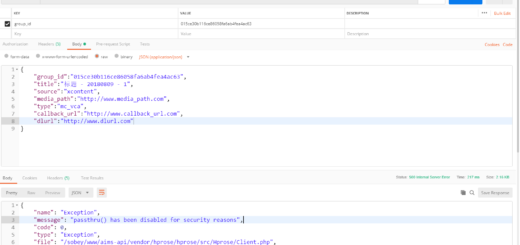 passthru() has been disabled for security reasons