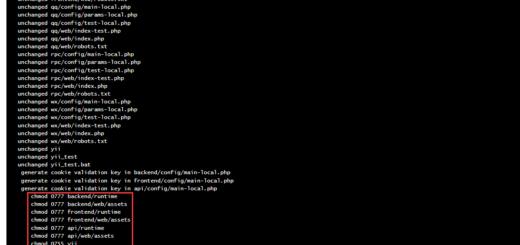 在 CentOS 7.2 中执行初始化命令,一些应用下的目录权限未设置,不正常(总计 8 行)