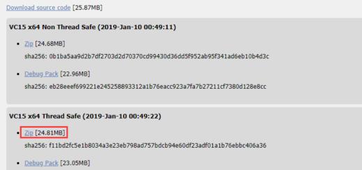 网址:https://windows.php.net/download#php-7.2 ,下载 VC15 x64 Thread Safe