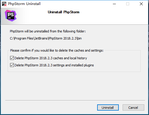 在卸载过程中,删除 182 版本的缓存、设置与安装的插件(自行决定是否勾选)