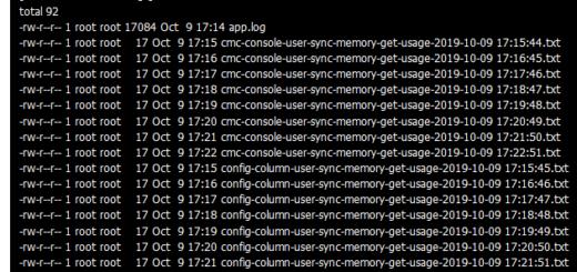 查看写入的文本文件,以检测命令行运行的间隔时间,符合预期