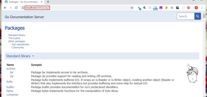 使用浏览器打开 http://localhost:6060 ,正常打开,符合预期