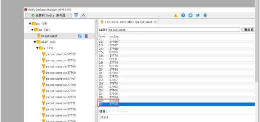 查看 pa:ar:user 的值,发现行 29、30 的值皆为 37918。由此确定,是此键的值导致了 id 等于 37918 的资源数等于 2 个。
