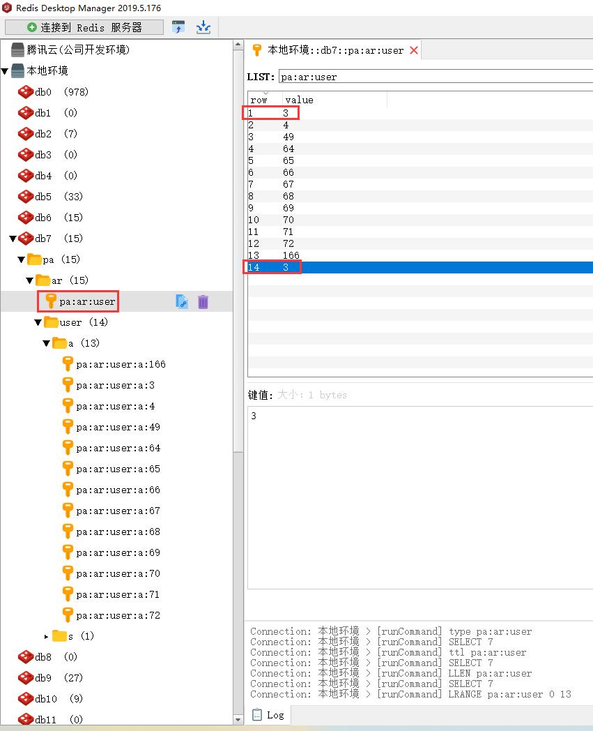 在程序执行过程中,插入数据至 Redis 中时,不论 ID 是否存在,皆插入。请求接口,响应参数中资源总数量为 14 个。包含 id 等于 3 的资源是重复的。总计为 2 个。