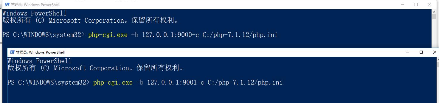 出现以上原因是因为 Windows 下 nginx php 环境,不支持并发的原因,当同时访问多个域名,并且同时指向你本地服务的时候,就不支持并发了。nginx.conf 里面 对不同 server 修改 fastcgi_pass 的端口号,启动多个 php-cgi。