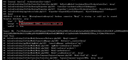 在 CakePHP v2.6.4 中,报错:SQLSTATE[HY000] [2002] Connection timed out。