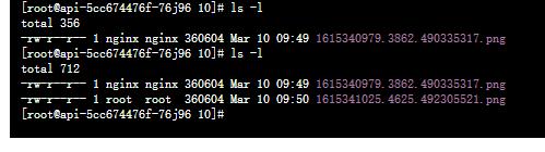 在运行命令行脚本时,使用 root 用户在目录:/webtv/wangjie/ccp_api/images/2021/03/10 下创建文件:1615341025.4625.492305521.png 成功。符合预期。