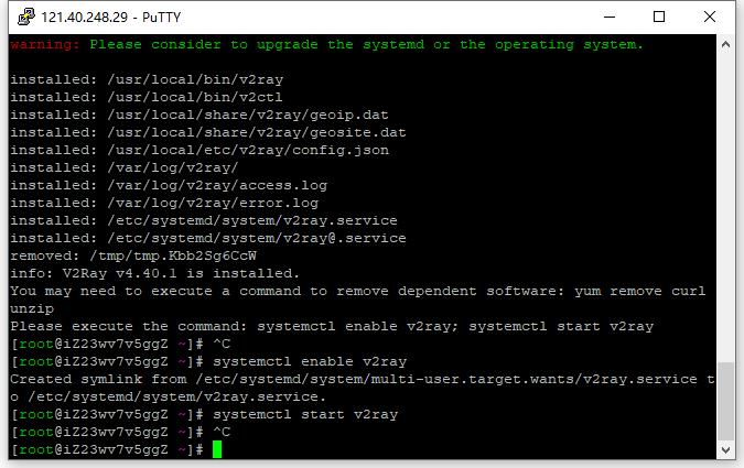 安装和更新 V2Ray,参考网址:https://github.com/v2fly/fhs-install-v2ray/blob/master/README.zh-Hans-CN.md