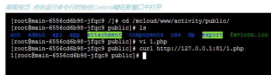 新建一个 PHP 文件,运行时间超过 120 秒。curl http://127.0.0.1:81/1.php 未报错。