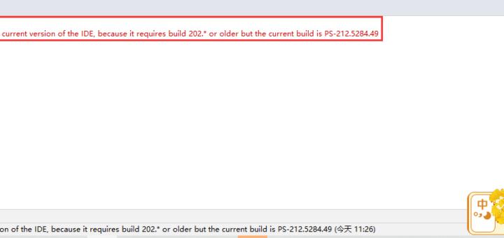 在 PhpStorm 中,事件日志:插件错误: Plugin 'BashSupport' (version '1.8.0.202') is not compatible with the current version of the IDE, because it requires build 202.* or older but the current build is PS-212.5284.49。