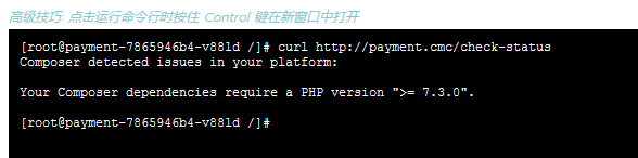 """Composer detected issues in your platform:Your Composer dependencies require a PHP version """">= 7.3.0"""".。Composer 在您的平台中检测到问题:您的 Composer 依赖项需要 PHP 版本 """">= 7.3.0""""。"""